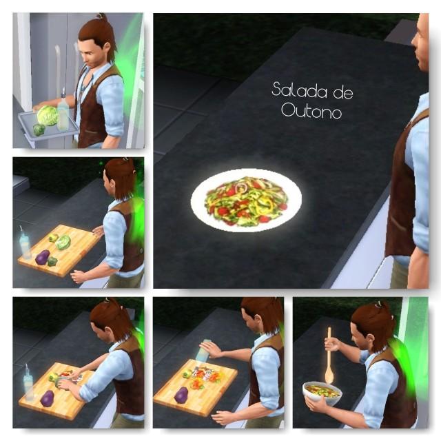 receita Salada de Outono the sims 3 - 2
