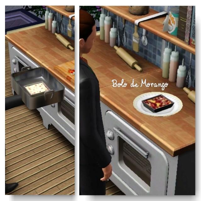 receita Bolo de Morango the sims 3 - 2