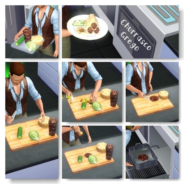 receita Churrasco Grego the sims 3 - 2