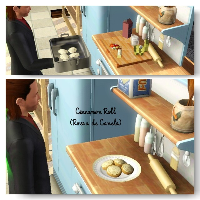 receita Rosca de Canela (Cinnamon Roll) the sims 3 - 2