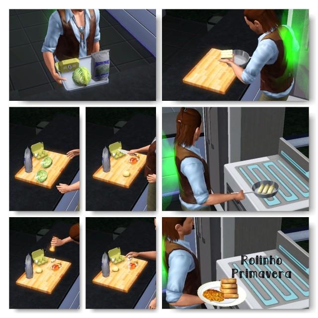 receita Rolinho Primavera The Sims 3 - 1