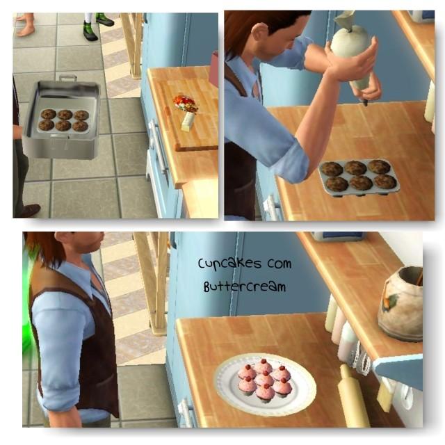 receita Cupcake com Cobertura de Buttercream the sims 3 - 2