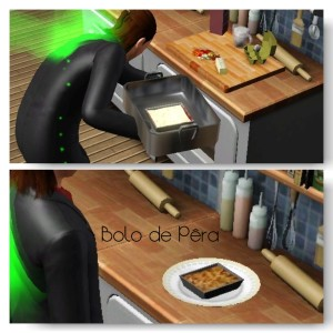 0 - Bolo de Pêra Receita do The Sims