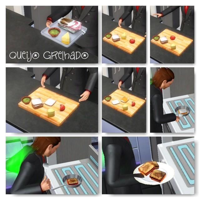 receita Queijo Grelhado the sims 3 - 2