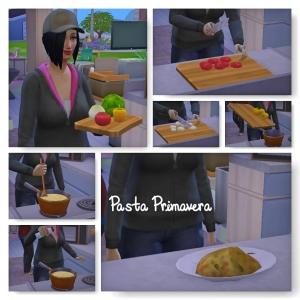 1- Pasta Primavera the sims 4 gourmet