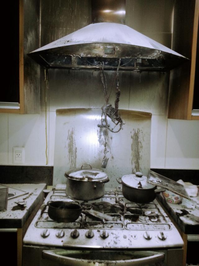 perigos da cozinha