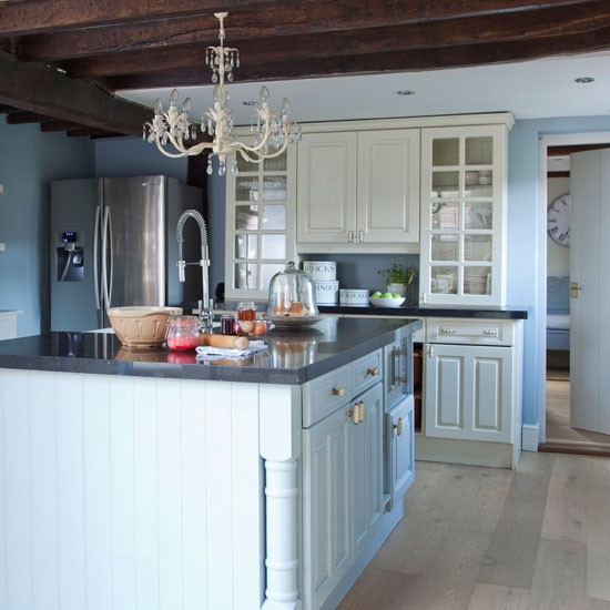 Blue-painted-country-kitchen---Country---Ideal-Home