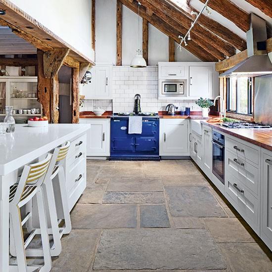 Flagstone-Floor-White-Kitchen-Beautiful-Kitchens-Housetohome